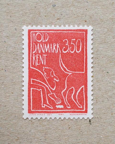 Danmark frimærke 1991, 3,50 - 'Hold Danmark Rent'