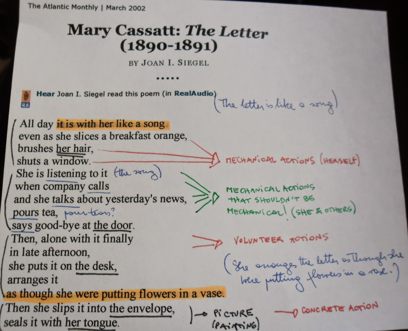 Essay on mary cassatt