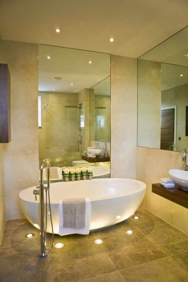 Stunning ideas for bathroom led ceiling lights and for Beautiful modern bathrooms
