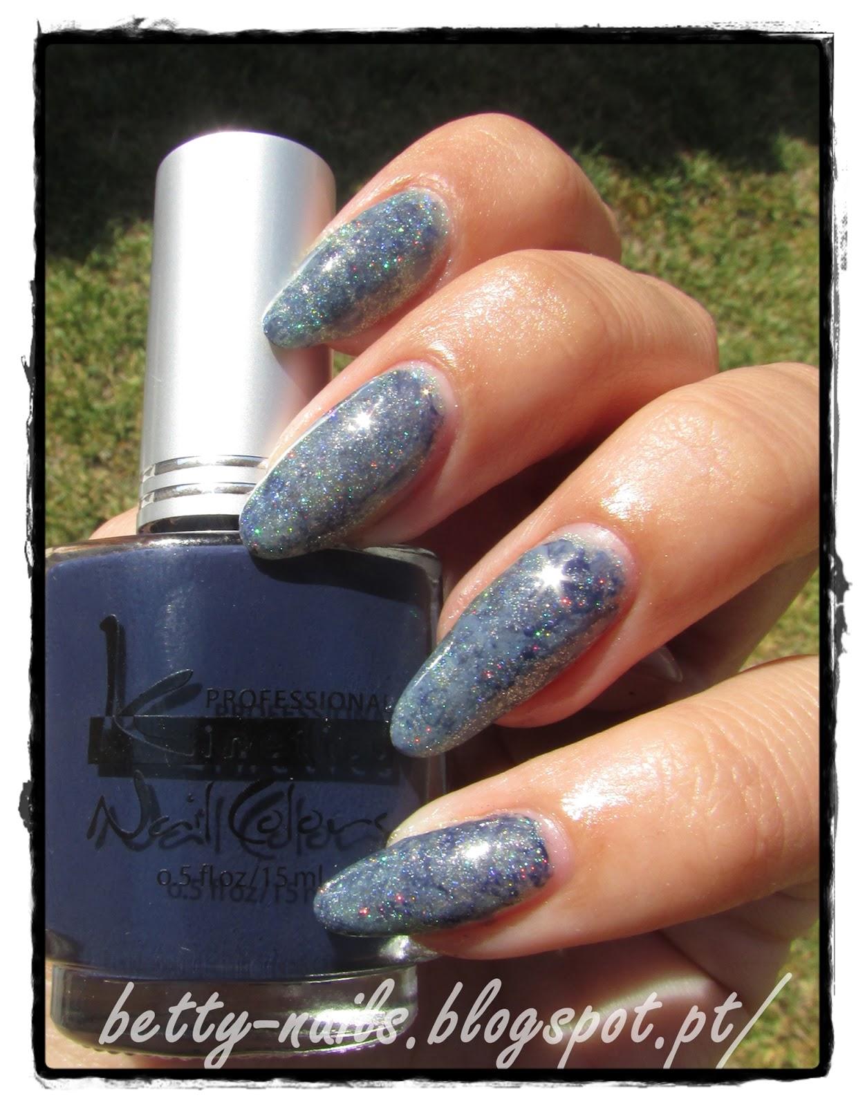 Saran Wrap Nail Design