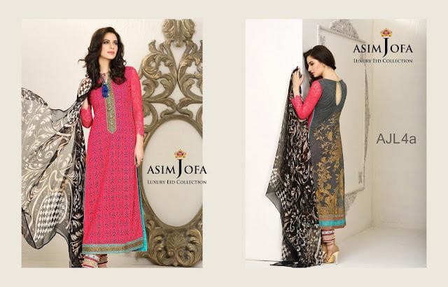 Asim Jofa Luxury Lawn Eid Collection 2015