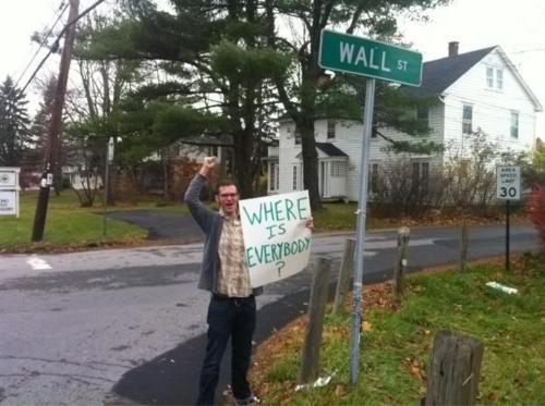 佔領華爾街 搞笑圖片