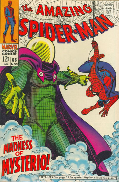 Amazing Spider-Man #66, Mysterio, All-time Top Ten John Romita Spider-Man Covers