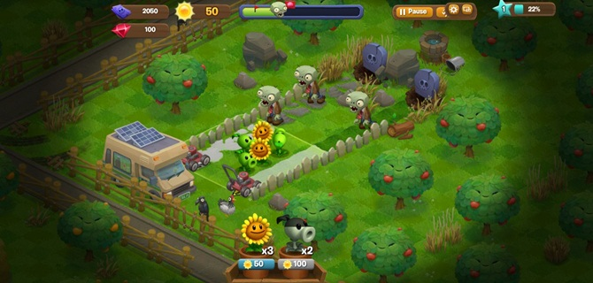 เปิดแล้ว plants vs. zombies adventures