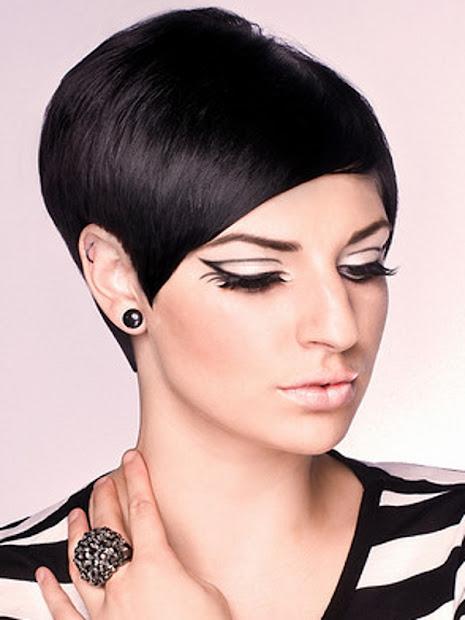 hair ink. short black