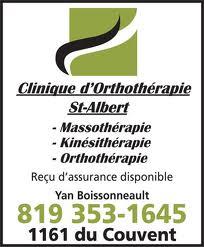 CLinique d'orthotérapie St-Albert partenaire argent