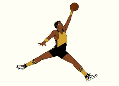 "Threadless Star Trek: The Next Generation x Michael Jordan's Air Jordan Nike Brand T-Shirt ""Air Geordi"""