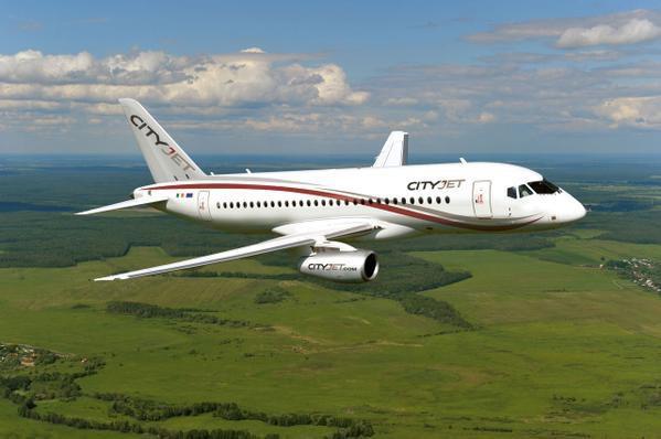 Superjet 100 для авиакомпании CityJet выполнил свой первый полёт