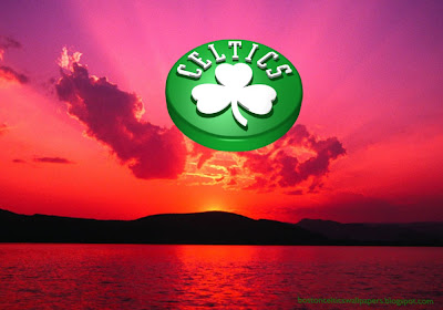 Boston Celtics desktop Wallpapers Celtics Up Logo at Red Sunset Desktop wallpaper