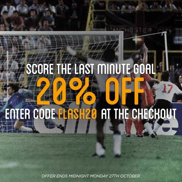 20% OFF in all football shirts
