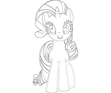 #2 Rarity Coloring Page