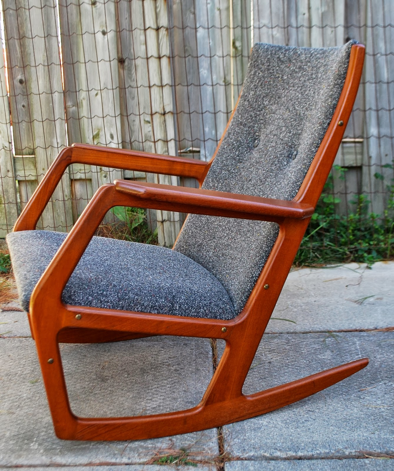 rocking modern teak with a chair in pin mid gorgeous is wood featured solid this century