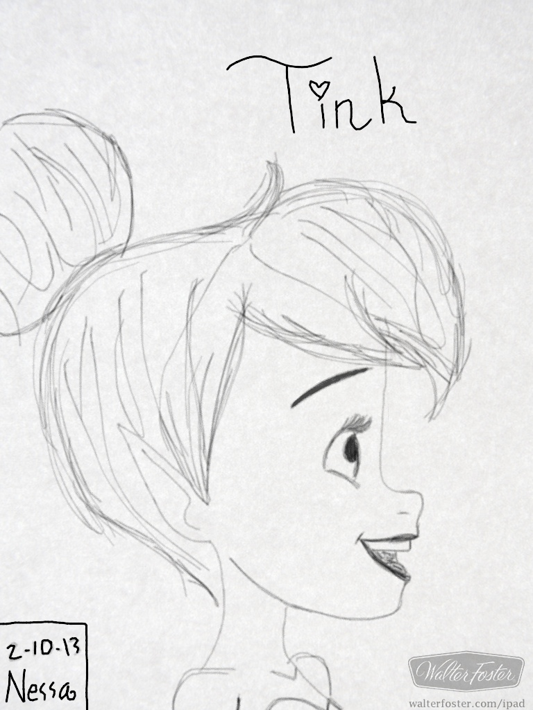 Free coloring pages of p pixie for Pixie hollow coloring pages