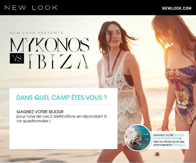 """1 séjour de 4 à 8 jours à Ibiza ou Mykonos + 2 abonnements d'1 an au magazine """"Glamour"""""""