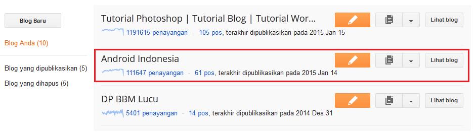 Cara Memindahkan Akun Blogspot ke Akun Blogspot (Gmail) lain