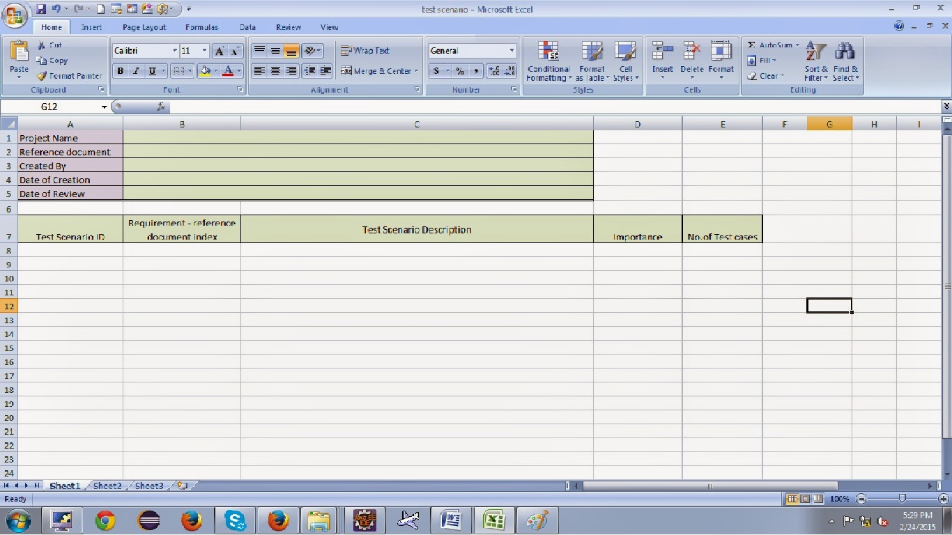 how to write test scenarios in manual testing