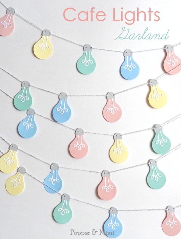 Paper Cafe Lights Garland | popperandmimi.com