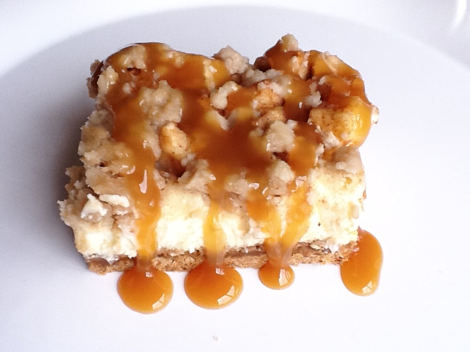 ... Country Girl: Caramel Apple Cheesecake Bars with Streusel Topping