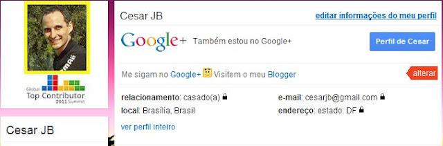 Perfil do Orkut com integração com o Google+