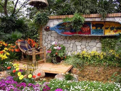 Decora o de jardins pequenos ideias decora o mobili rio - Decoracion para jardines rusticos ...