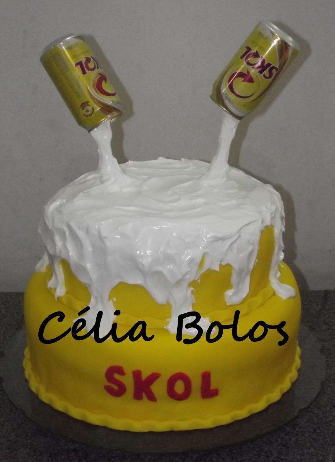 Suficiente Bolos Decorados da Célia: Bolo Lata de cerveja Skol (2) ZH11