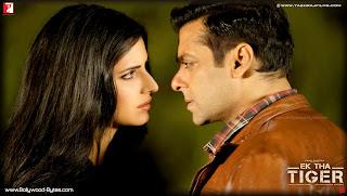 Katrina Kaif and Salman Khan  Close up HD Wallpaper from Ek Tha Tiger