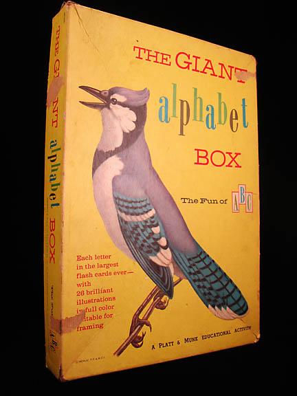 vintage set of giant alphabet cards
