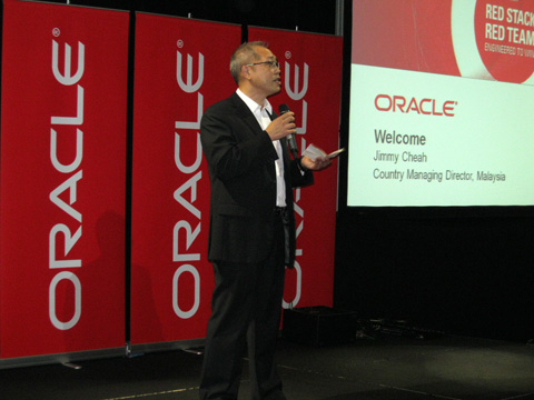 Welcome speech by Oracles' Managing Director Mr Jimmy Cheah