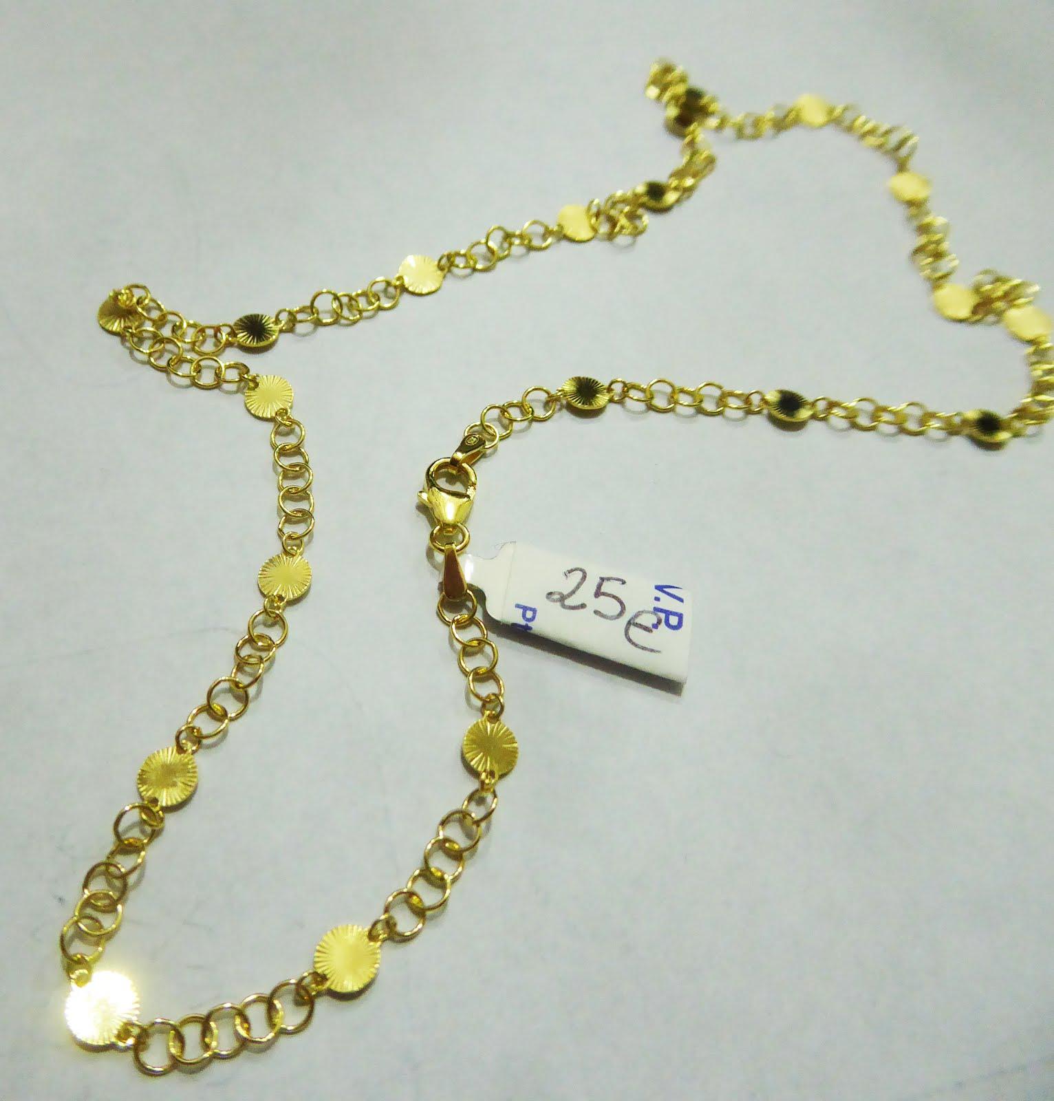 Gargantilla de plata dorada