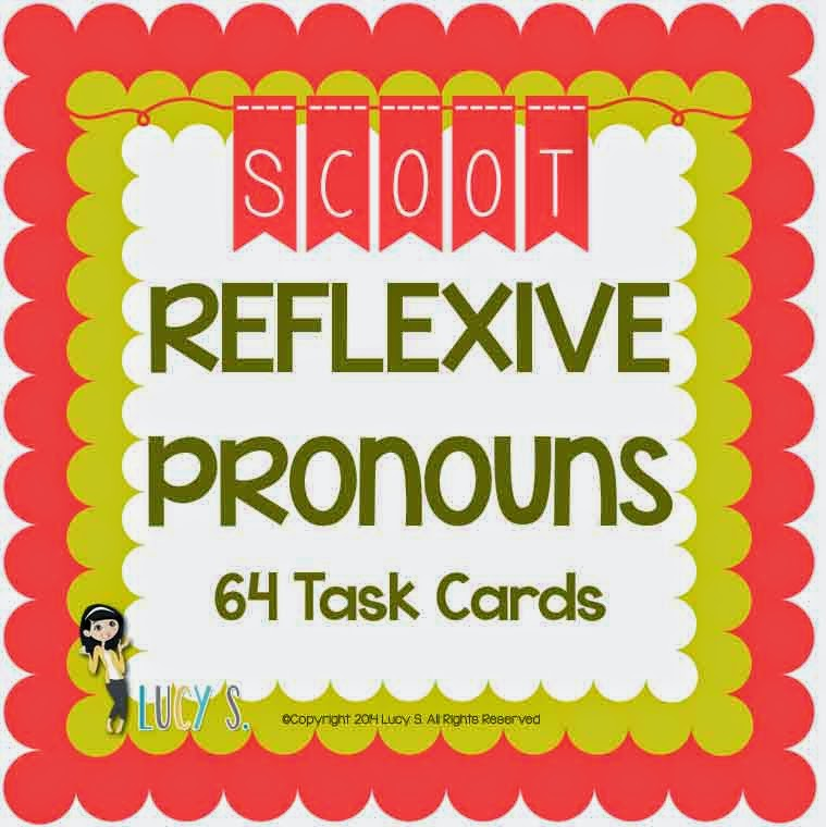 Reflexive Pronouns Scoot - 64 Task Cards
