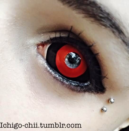 Epic Halloween Sclera Lenses Red & Black: Phantasee Gremlin Sclera Lenses