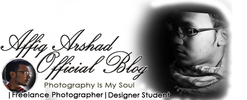 Affiq Arshad Official Blog