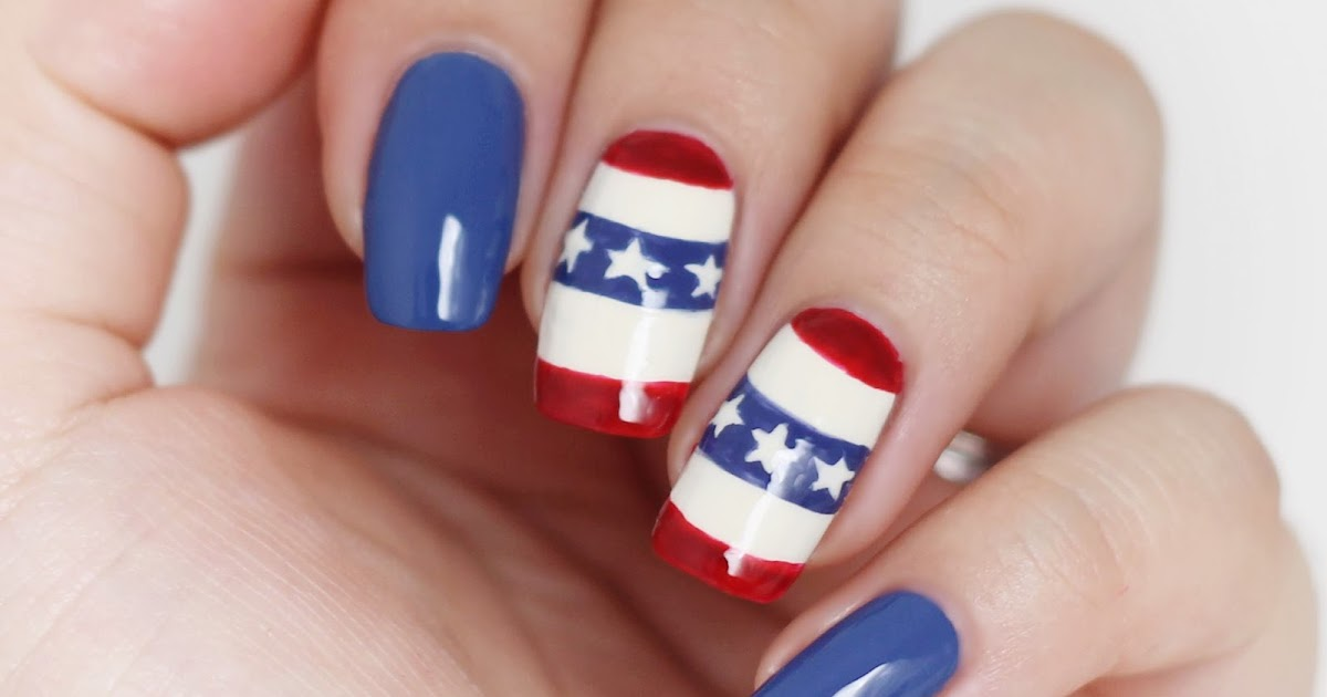 Vintage bunting 4th of july nails makeup withdrawal for 4th of july nail art decoration flag