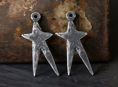 Rustic star charms from Inviciti.