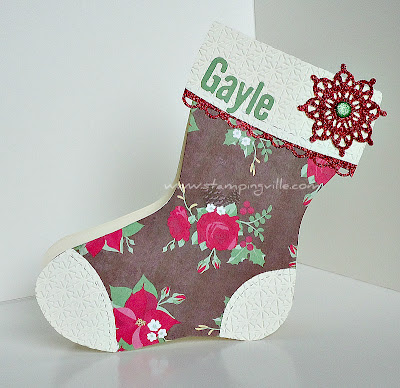Die Cut Christmas Stocking Gift Card Holder