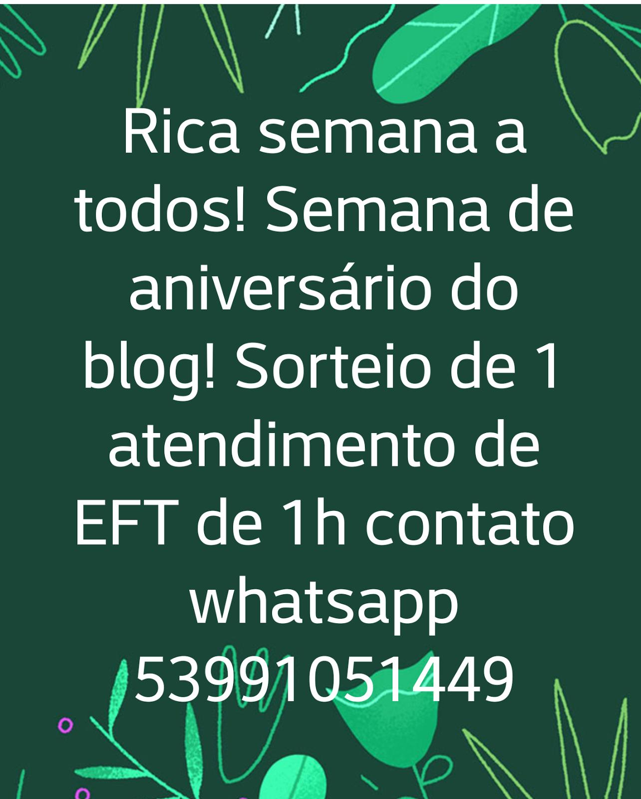 SORTEIO ANIVERSÁRIO DO BLOG