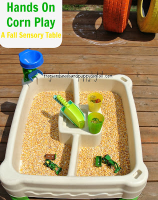 Corn Sensory Play- Fall Sensory Table