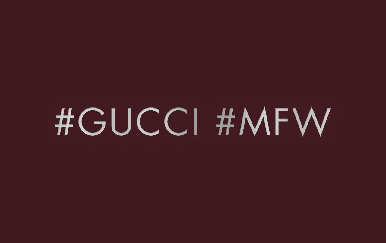 Watch Gucci's Men's Fall/Winter 15 Runway Show LIVE here TODAY!