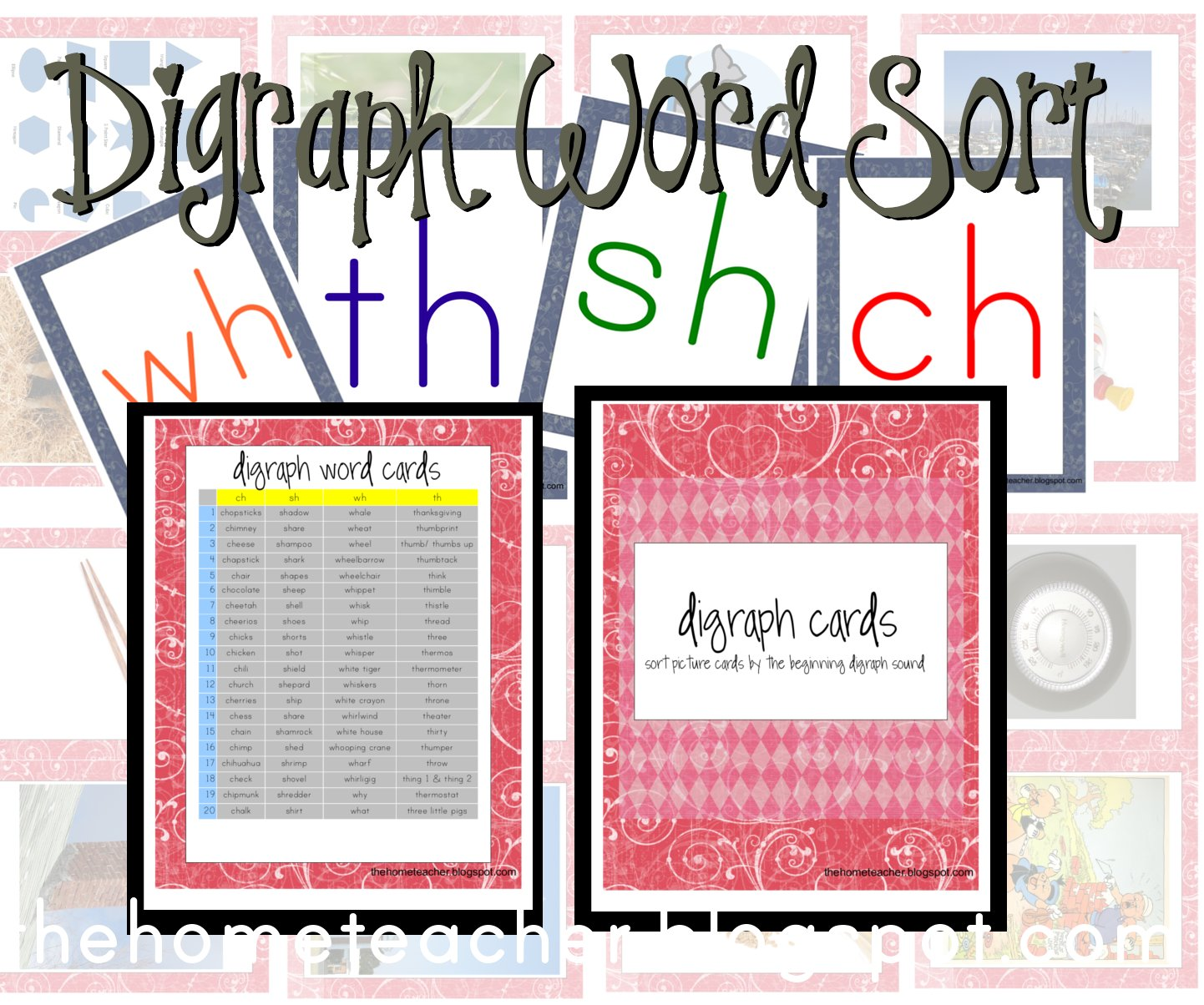 free sort, click here: Digraph Sorting Folder Cards and Instructions ...