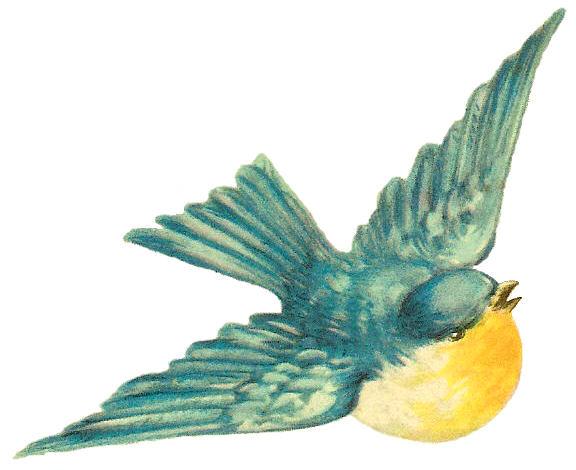 antique free bird clip