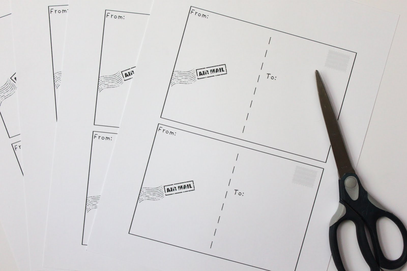 Make Your Own Postcards {Free Printable} - Smashed Peas & Carrots