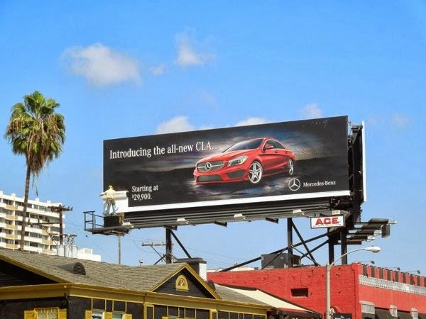 Mercedes-Benz All new CLA mannequin billboard installation