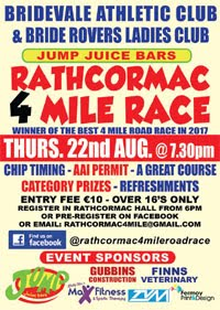 4 mile race NE of Cork City - Thurs 22nd Aug 2019