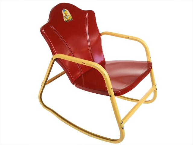 Child Red Rocking Chair ~ Found free flea a very modest cottage