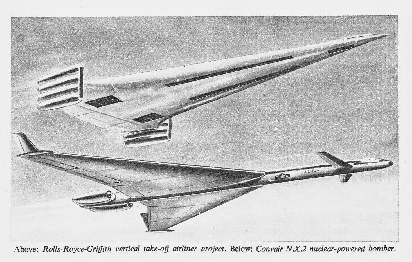 Convair N.X.2 nuclear powered bomber