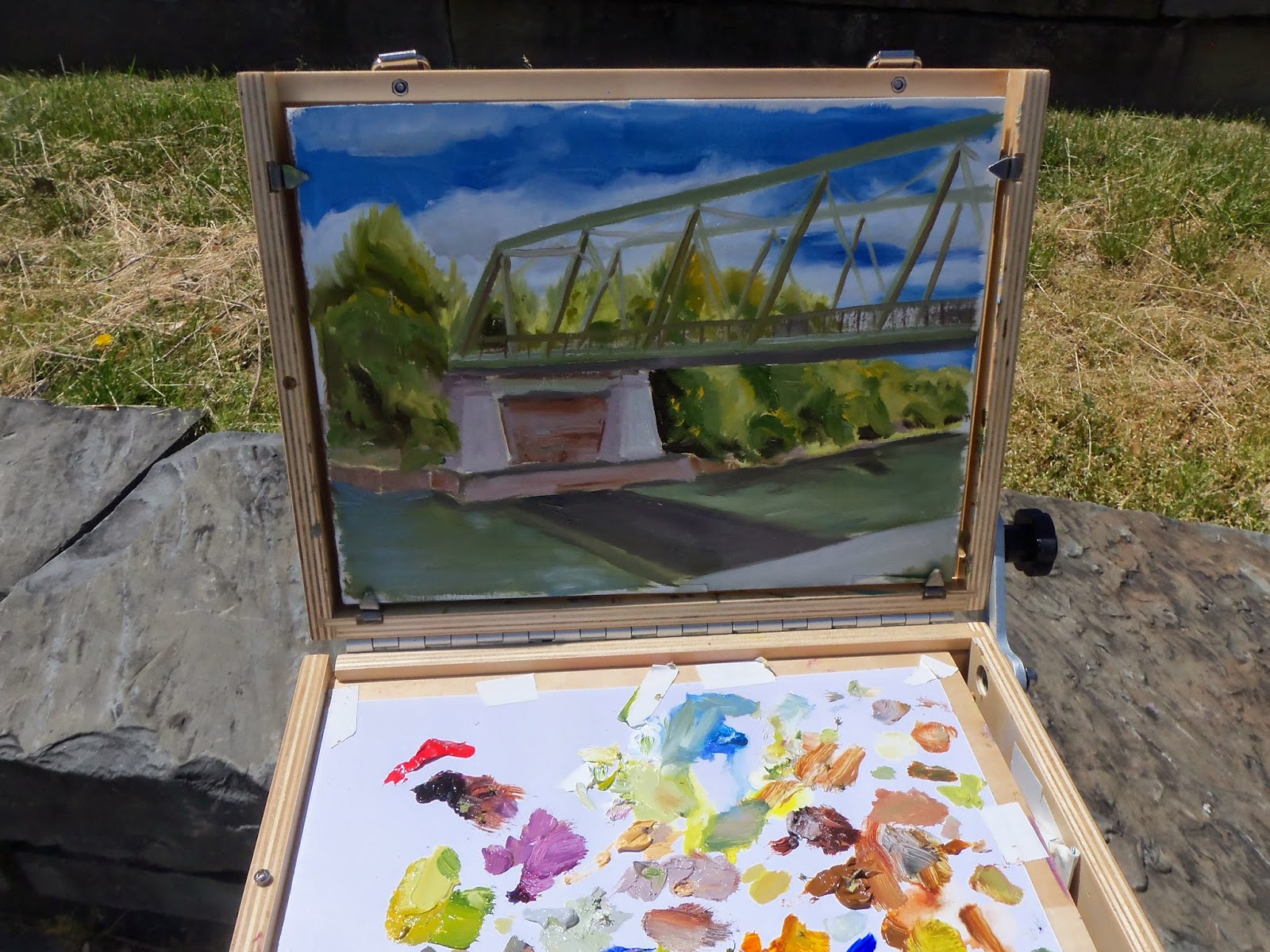 Guerrilla Painter laptop, 9x12 paintbox
