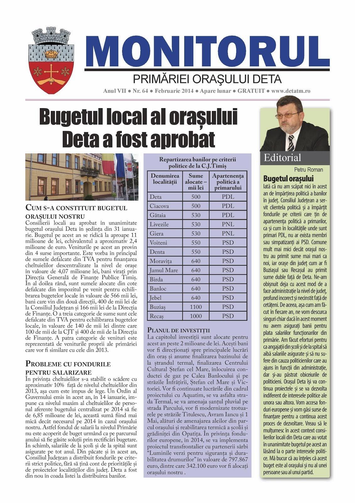 Monitorul - februarie 2014