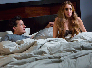 Charlie Sheen and Lindsay Lohan in 'Anger Management'