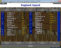 Championship Manager: Roy of the Rovers Edition: England Squad