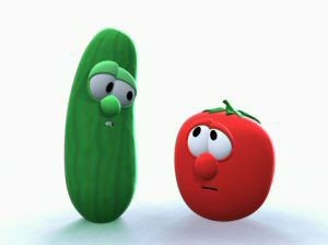 Rated R version of Veggie Tales Cartoon